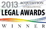 Acquisition International Lagal Awards Winner 2013