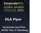 Corporate INTL Global Awards Winner 2016 DLA Piper